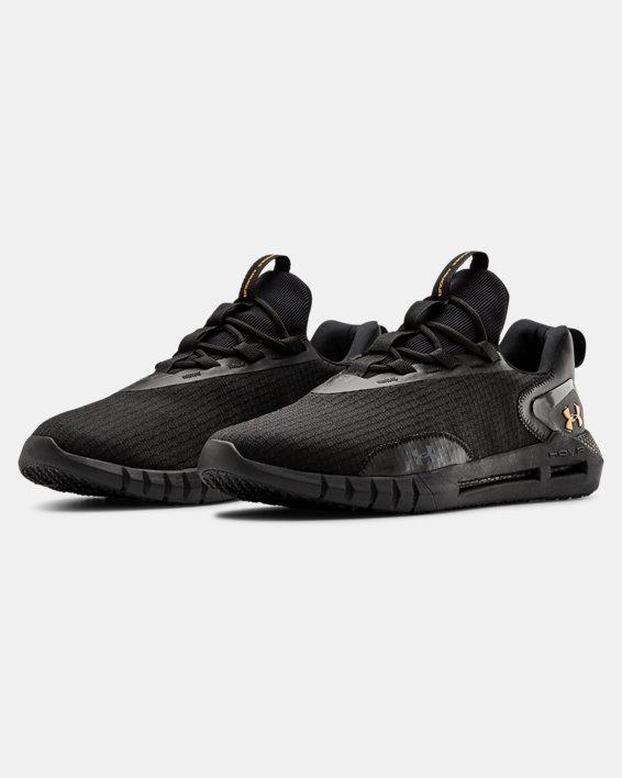Unisex UA HOVR™ STRT LOGO Sportstyle Shoes, Black, pdpMainDesktop image number 3