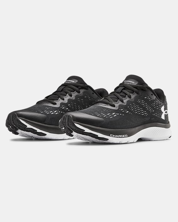 Boys' Grade School UA Charged Bandit 6 Running Shoes, Black, pdpMainDesktop image number 3