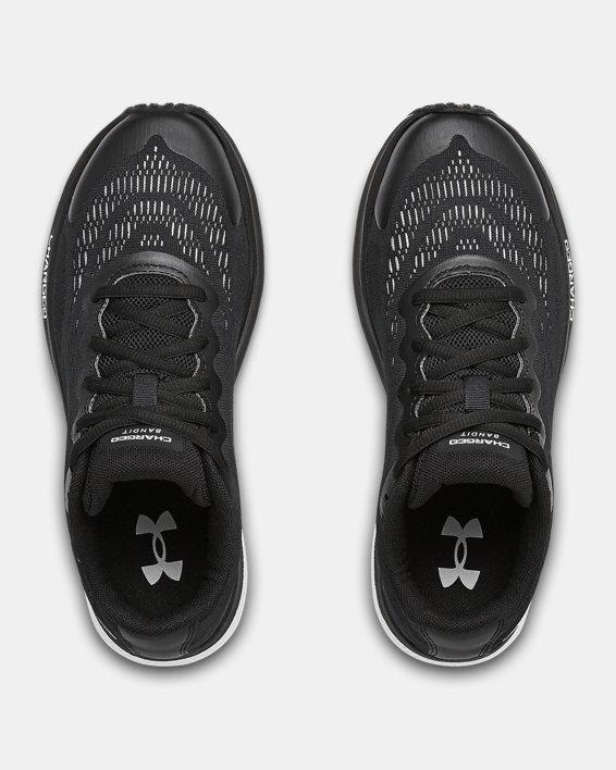 Boys' Grade School UA Charged Bandit 6 Running Shoes, Black, pdpMainDesktop image number 2
