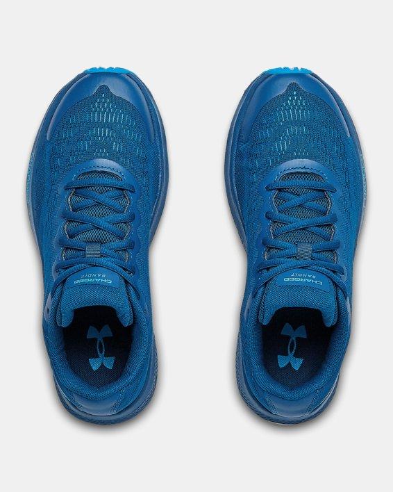Boys' Grade School UA Charged Bandit 6 Running Shoes, Blue, pdpMainDesktop image number 2