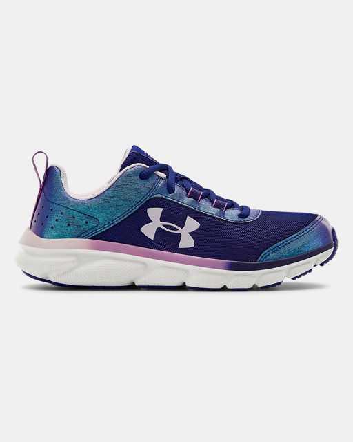 Girls' Grade School UA Assert 8 Frosty Running Shoes