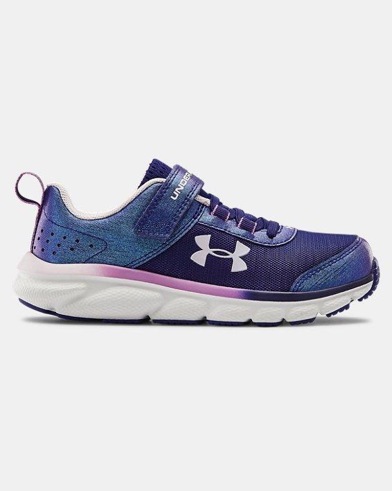 Girls' Pre-School UA Assert 8 AC Frosty Running Shoes, Blue, pdpMainDesktop image number 0