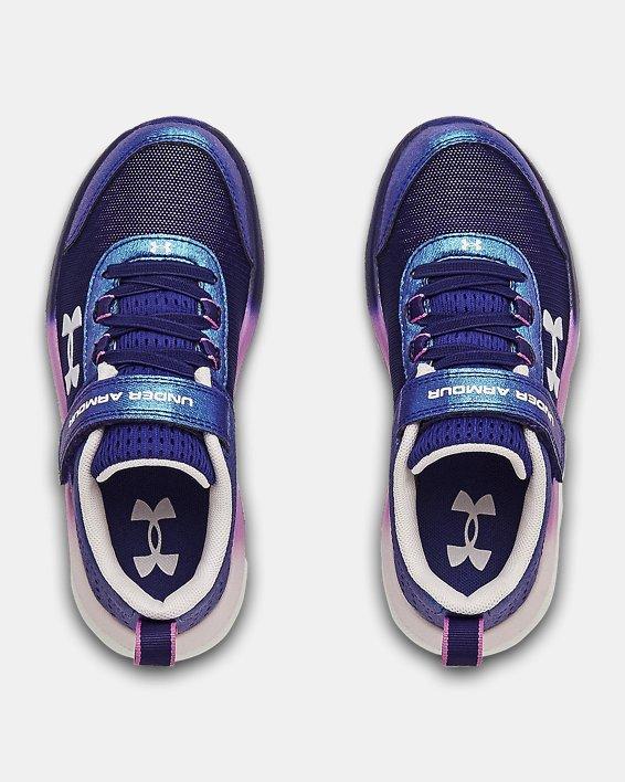 Girls' Pre-School UA Assert 8 AC Frosty Running Shoes, Blue, pdpMainDesktop image number 3