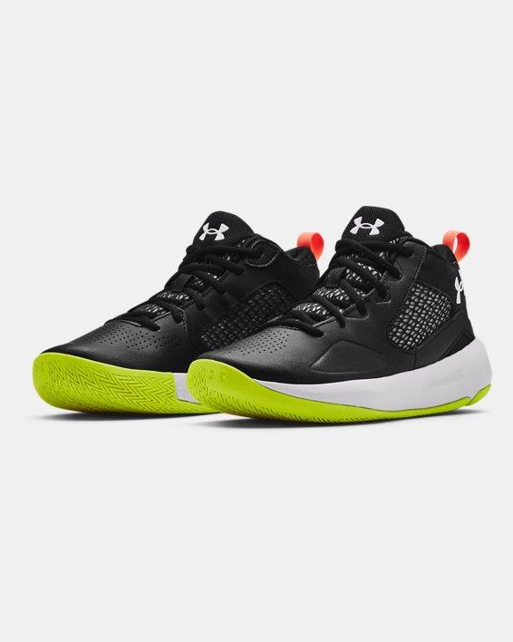Adult UA Lockdown 5 Basketball Shoes, Black, pdpMainDesktop image number 3