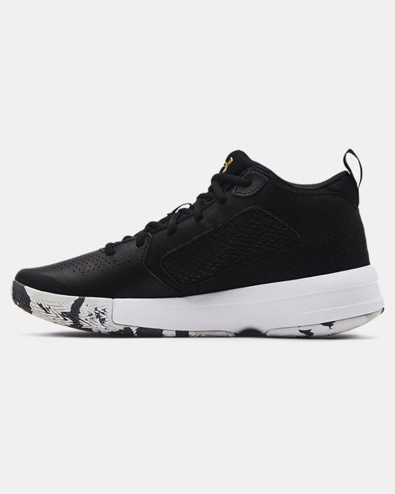 Adult UA Lockdown 5 Basketball Shoes, Black, pdpMainDesktop image number 1