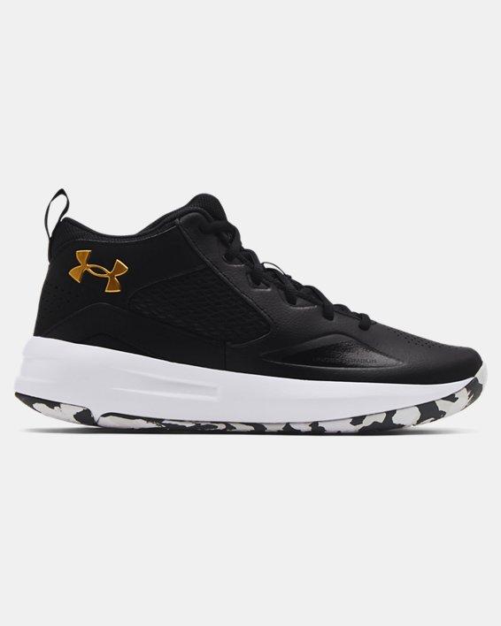 Adult UA Lockdown 5 Basketball Shoes, Black, pdpMainDesktop image number 0