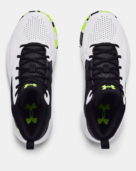 Adult UA Lockdown 5 Basketball Shoes, White, pdpMainDesktop image number 2