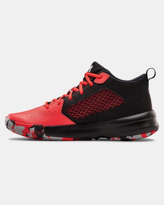Adult UA Lockdown 5 Basketball Shoes, Red, pdpMainDesktop image number 1
