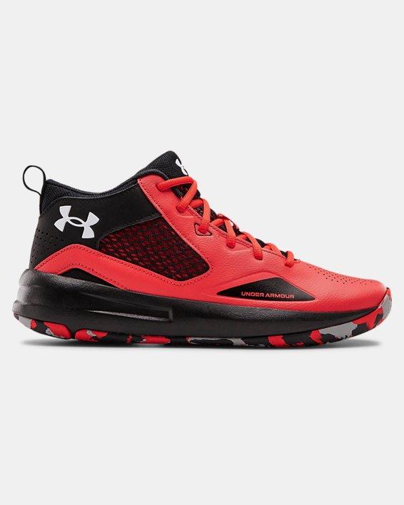 Adult UA Lockdown 5 Basketball Shoes, Red, pdpMainDesktop image number 0
