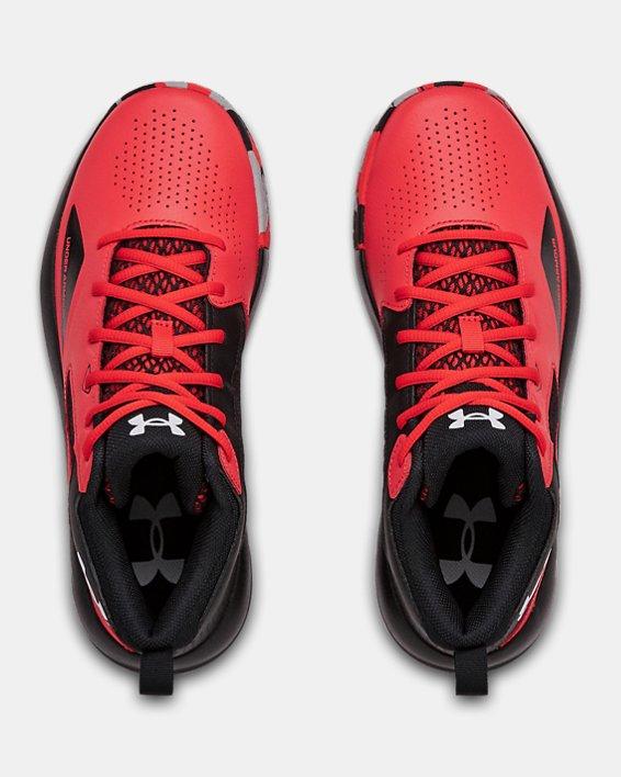 Adult UA Lockdown 5 Basketball Shoes, Red, pdpMainDesktop image number 2