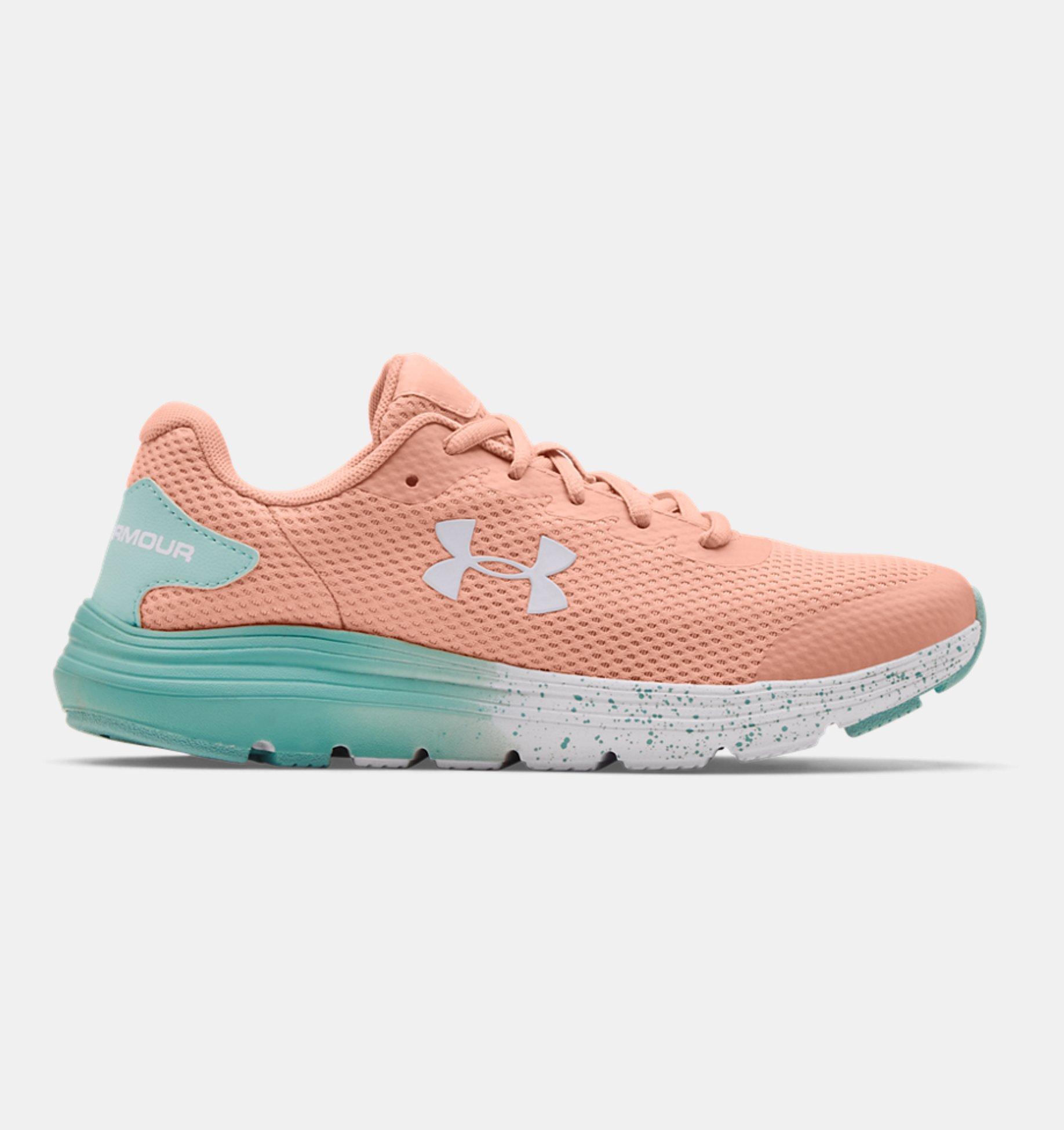 Underarmour Girls Grade School UA Surge 2 Fade Running Shoes