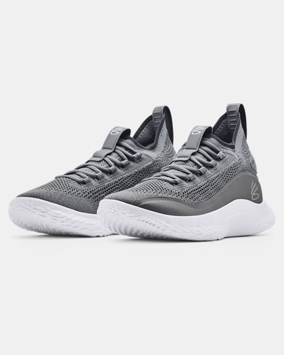 Curry Flow 8 Basketball Shoes, Gray, pdpMainDesktop image number 3