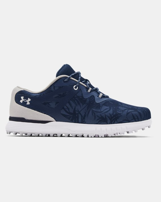 Women's UA Charged Breathe Spikeless TE Golf Shoes, Navy, pdpMainDesktop image number 0