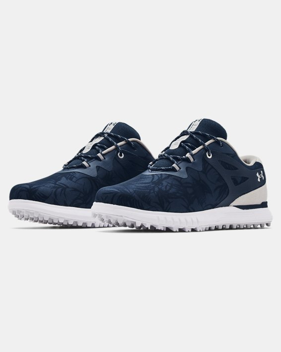 Women's UA Charged Breathe Spikeless TE Golf Shoes, Navy, pdpMainDesktop image number 3