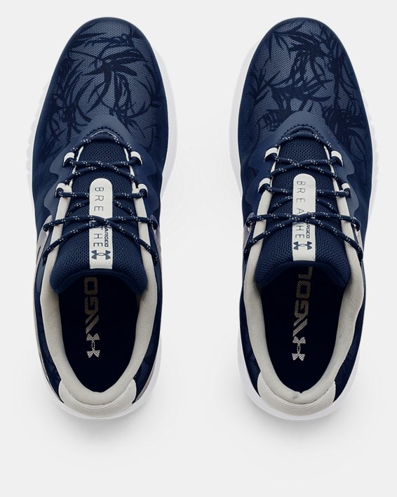 Women's UA Charged Breathe Spikeless TE Golf Shoes, Navy, pdpMainDesktop image number 2