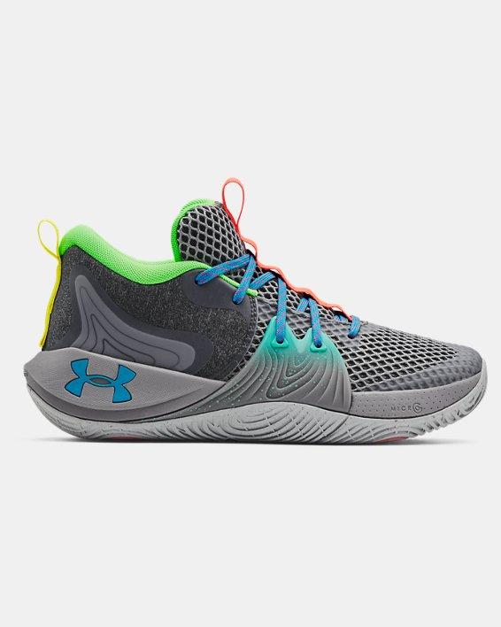 Unisex UA Embiid One 'Gamer Night' Basketball Shoes, Gray, pdpMainDesktop image number 0