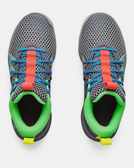 Unisex UA Embiid One 'Gamer Night' Basketball Shoes, Gray, pdpMainDesktop image number 2