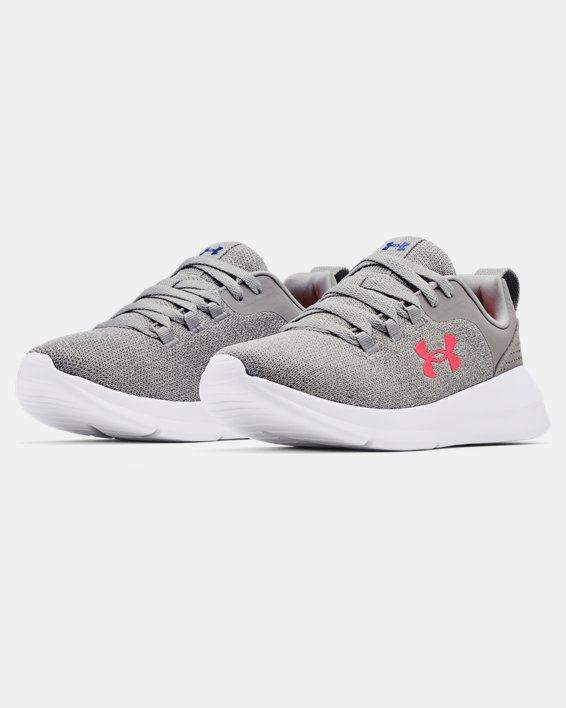 Women's UA Essential Sportstyle Shoes, Gray, pdpMainDesktop image number 3