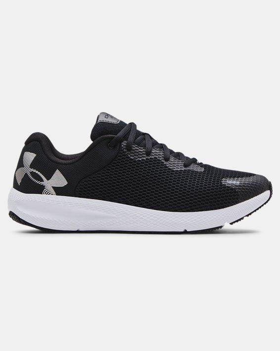 Men's UA Charged Pursuit 2 Big Logo Running Shoes, Black, pdpMainDesktop image number 0