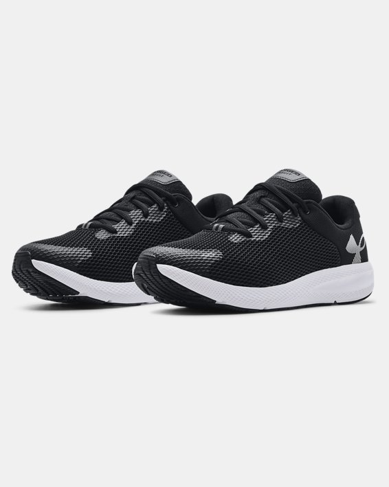Men's UA Charged Pursuit 2 Big Logo Running Shoes, Black, pdpMainDesktop image number 3