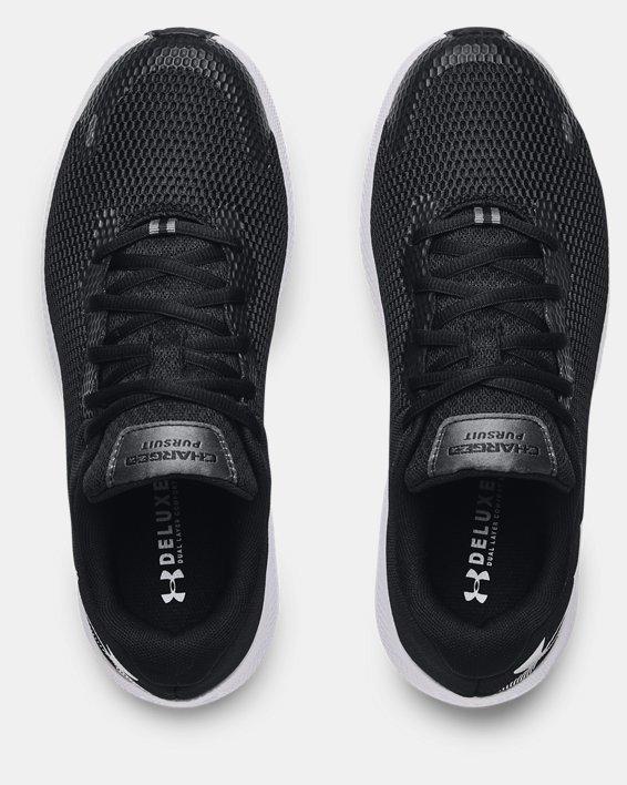 Men's UA Charged Pursuit 2 Big Logo Running Shoes, Black, pdpMainDesktop image number 2