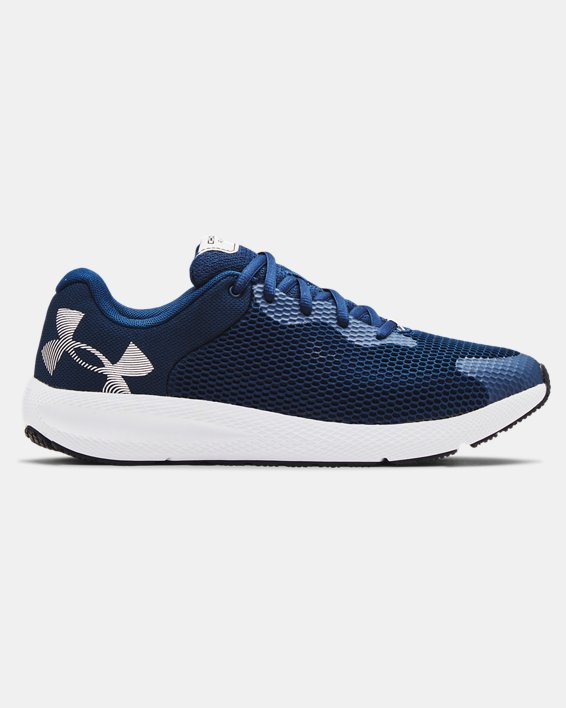 Men's UA Charged Pursuit 2 Big Logo Running Shoes, Navy, pdpMainDesktop image number 0
