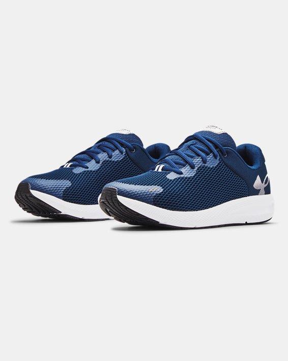 Men's UA Charged Pursuit 2 Big Logo Running Shoes, Navy, pdpMainDesktop image number 3
