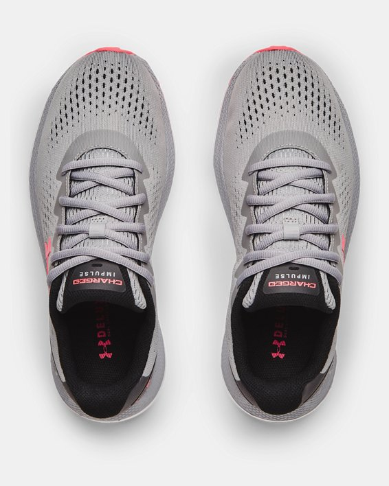 Women's UA Charged Impulse 2 Running Shoes, Gray, pdpMainDesktop image number 2