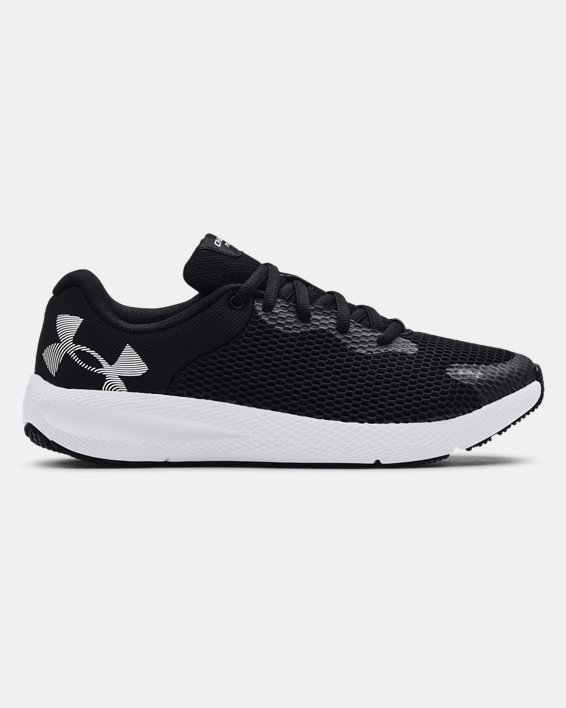 Women's UA Charged Pursuit 2 Big Logo Running Shoes, Black, pdpMainDesktop image number 0