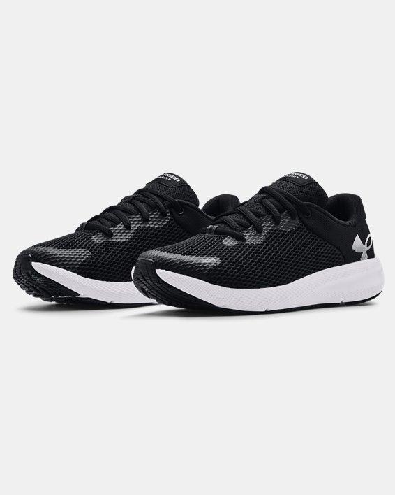 Women's UA Charged Pursuit 2 Big Logo Running Shoes, Black, pdpMainDesktop image number 3