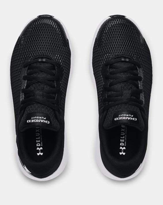 Women's UA Charged Pursuit 2 Big Logo Running Shoes, Black, pdpMainDesktop image number 2