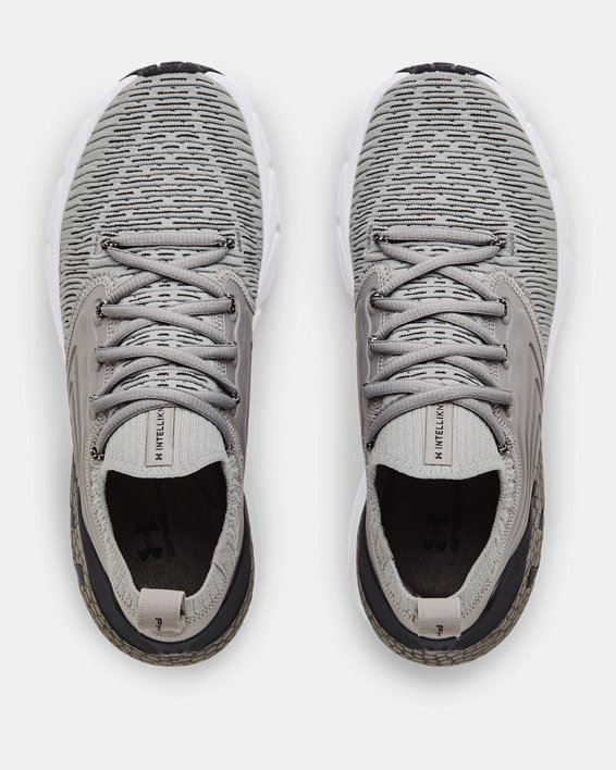 Women's UA HOVR™ Phantom 2 IntelliKnit Running Shoes, Gray, pdpMainDesktop image number 2