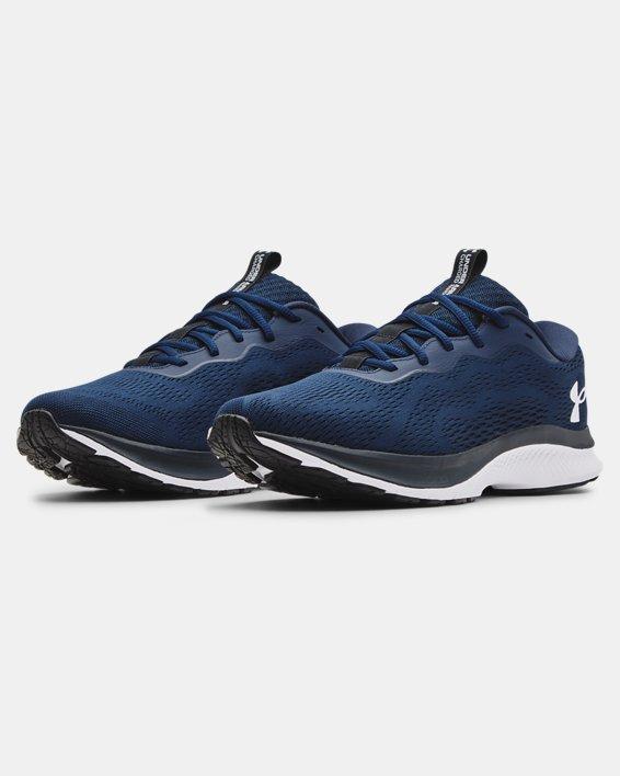Men's UA Charged Bandit 7 Running Shoes, Navy, pdpMainDesktop image number 3