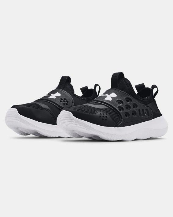 Boys' Grade School UA Runplay Running Shoes, Black, pdpMainDesktop image number 3