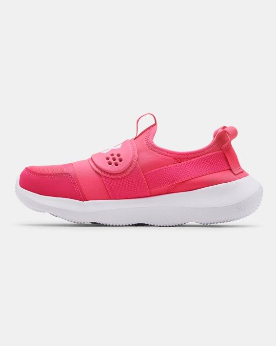 Girls' Grade School UA Runplay Running Shoes, Pink, pdpMainDesktop image number 1