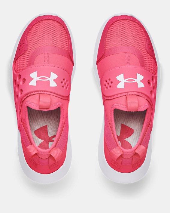 Girls' Grade School UA Runplay Running Shoes, Pink, pdpMainDesktop image number 2