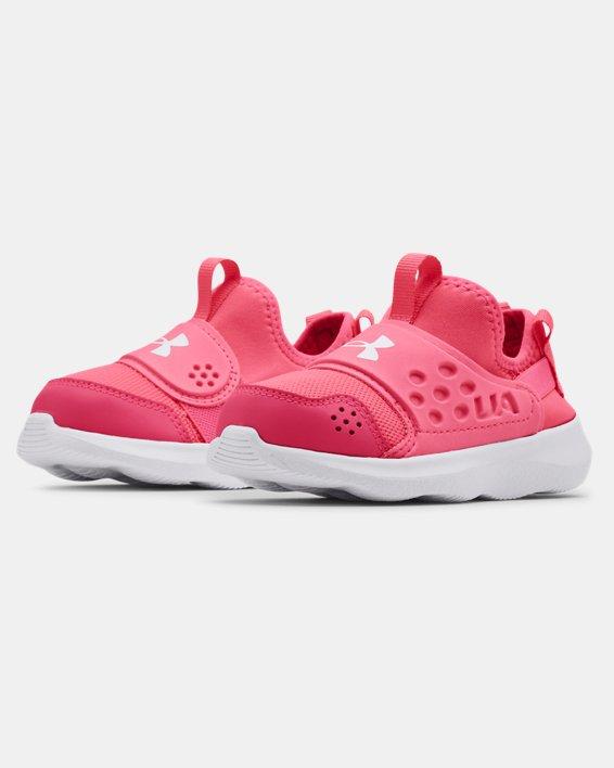 Girls' Infant UA Runplay Shoes, Pink, pdpMainDesktop image number 3
