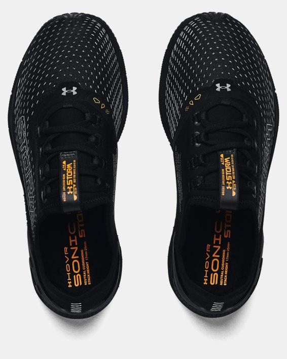 Women's UA HOVR™ Sonic 4 Storm Running Shoes, Black, pdpMainDesktop image number 2