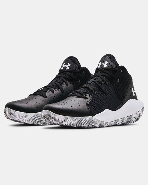 Unisex UA Jet '21 Basketball Shoes, Black, pdpMainDesktop image number 3