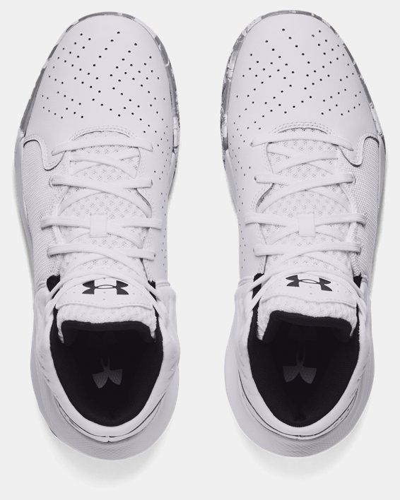 Unisex UA Jet '21 Basketball Shoes, White, pdpMainDesktop image number 2