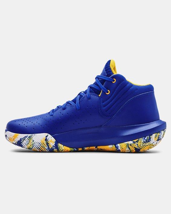 Unisex UA Jet '21 Basketball Shoes, Blue, pdpMainDesktop image number 1