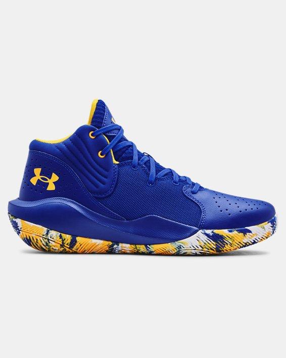 Unisex UA Jet '21 Basketball Shoes, Blue, pdpMainDesktop image number 0