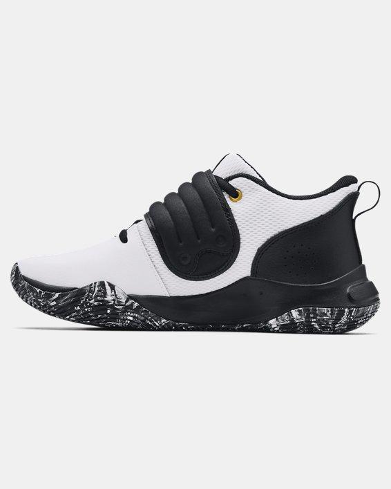 Grade School UA Zone BB Basketball Shoes, White, pdpMainDesktop image number 1