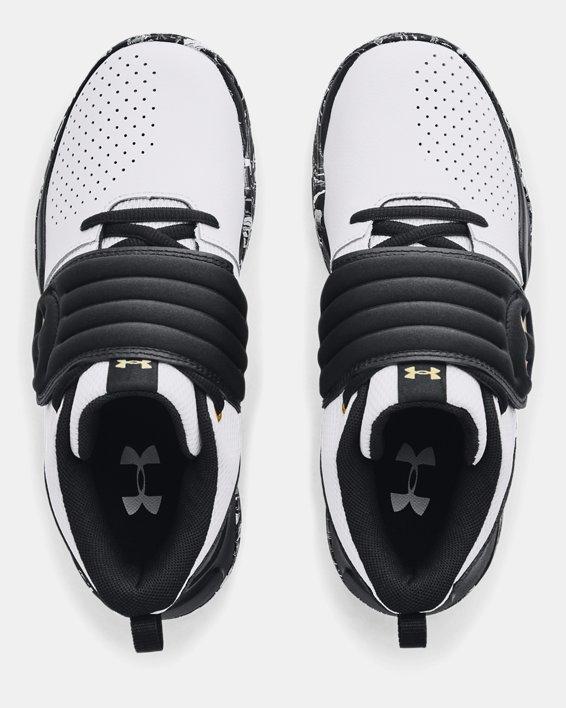 Grade School UA Zone BB Basketball Shoes, White, pdpMainDesktop image number 2