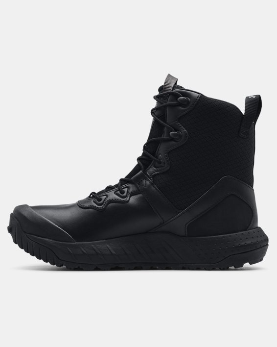 Men's UA Micro G® Valsetz Leather Waterproof Tactical Boots, Black, pdpMainDesktop image number 1