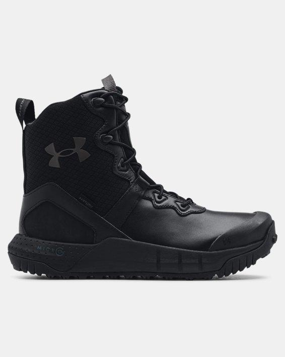 Men's UA Micro G® Valsetz Leather Waterproof Tactical Boots, Black, pdpMainDesktop image number 0