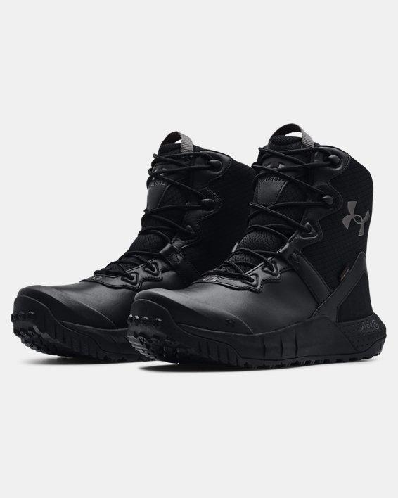Men's UA Micro G® Valsetz Leather Waterproof Tactical Boots, Black, pdpMainDesktop image number 3