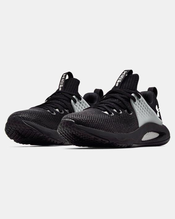 Women's UA HOVR™ Rise 3 Training Shoes, Black, pdpMainDesktop image number 3