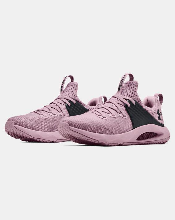 Damen UA HOVR™ Rise 3 Trainingsschuhe, Pink, pdpMainDesktop image number 3