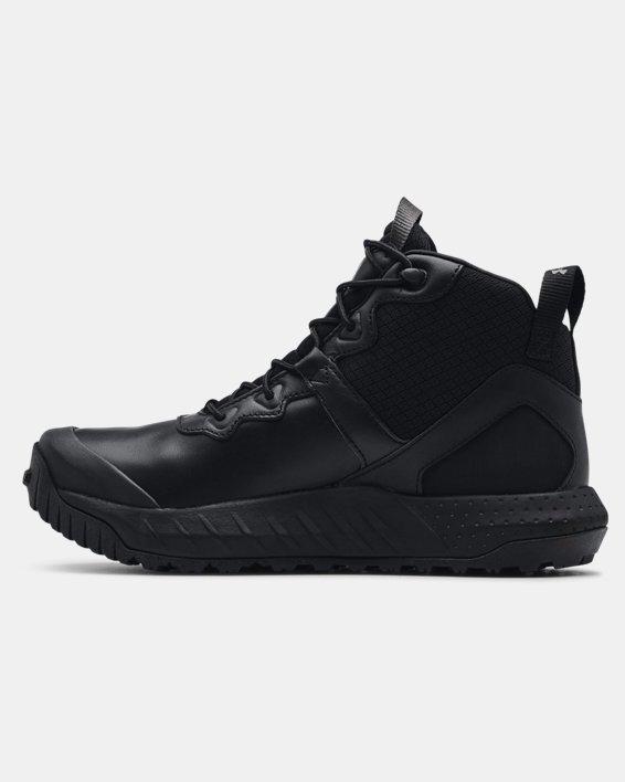 Chaussures militaires imperméables en cuir à coupe mi-montante UAMicroG® Valsetz pour homme, Black, pdpMainDesktop image number 1